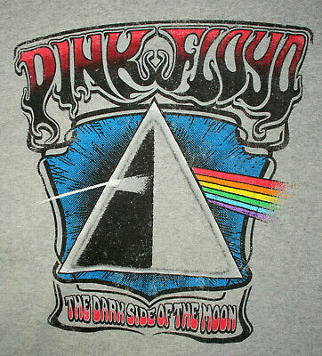 Retro Music Pink Floyd Rock Band Dark Side Of The Moon T-Shirt New Small 2018