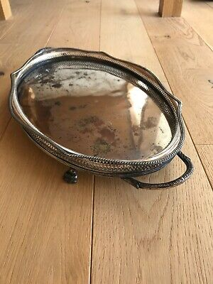 Vintage Large Silver Plated Gallery Tray Chased 2kg 58cm