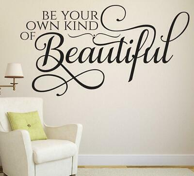 Hair Salon Retail Shop Wall Sticker Be Your Own Kind Of Beautiful Vinyl Beauty