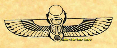 Egyptian Winged Scarab Rubber Stamp Ancient Egypt hieroglyph