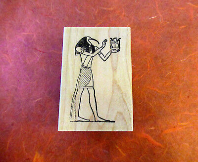 Thoth Ancient Egyptian Nile God Mounted Rubber Stamp