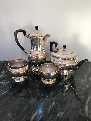 Vintage Garrard & Co Silver Plated Coffee Pot, Tea Pot Cream Jug and Sugar