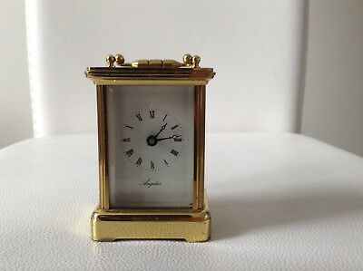 Rare Vintage Collectable Swiss Miniature Angelus Carriage Clock