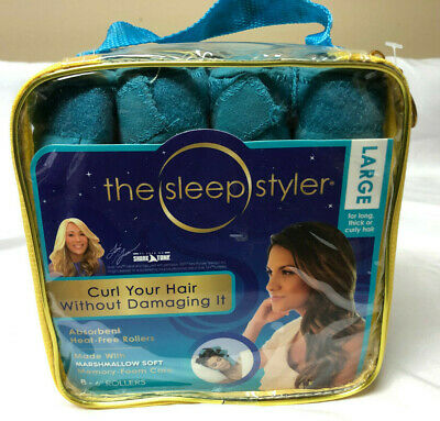 "The Sleep Styler Heat Curlers Includes 8 Large 6"" Rollers"