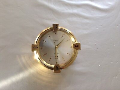 Rare Antique Swiss 7 Jewels 8 Day Swiza Table Calendar Alarm Clock