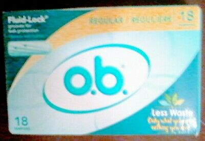 Johnson & Johnson o.b. Non-Applicator Tampons Value Pack Regular 4 packs of 18!