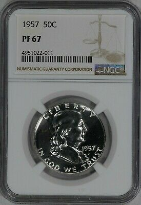 1957 Franklin Half Dollar 50C Ngc Certified Pf 67 Proof (022-011)