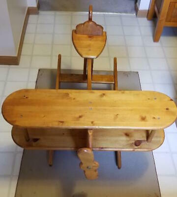 Vtg Large Wood Childs Rocking Airplane Toy (Local Pickup Only Ohio) No shipping