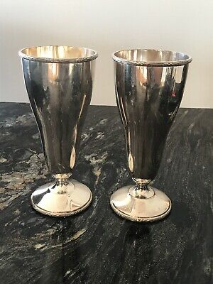 Antique Silver Plated Goblets By Walker And Hall  6 1/2""