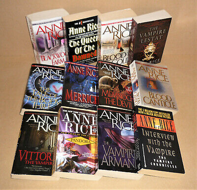 FIRST 12 VAMPIRE CHRONICLES & NEW TALES Anne Rice lot Lestat, Interview With the