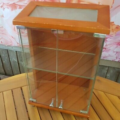 Collectors Small Wood & Glass Display Case.
