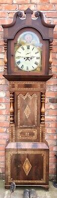 Antique Mahogany Tumbrge Wear Longcase Grandfather Clock W.a.thomas Llangollen