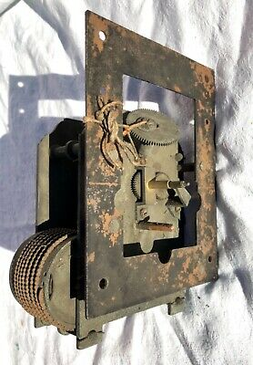 Antique Single CHAIN Fusee Clock Movement for Wall Clock for Restoration : H07