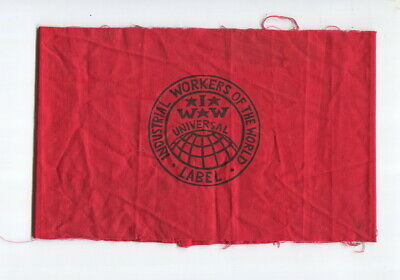 1960s  IWW  ARMBAND  Industrial Workers of the World Labor Union protest cause