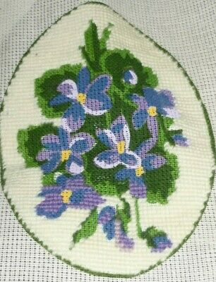 "Small - ""violets"" - Background Completed - Tapestry Canvas"