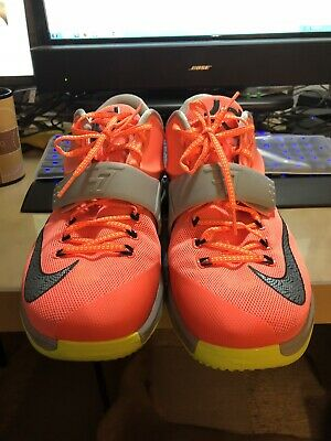 sports shoes 9c4a6 24d6b Nike Kd 7 Vii Kevin Durant Used Size 13 Bright Mango 35,000 Degrees 653996- 840