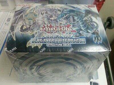 Yugioh Saga of Blue Eyes White Dragon Structure Deck Box of 8 Decks NEW SEALED