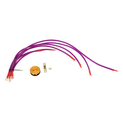Dia 8mm 6 Point Grounding Wire Ground Cable Kit Performance Racing Purple