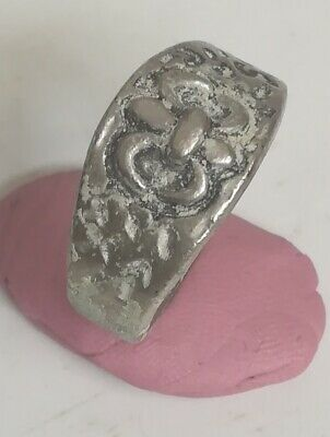 Ancient Metal Color Silver  Ring Viking Roman Artifact Beautiful