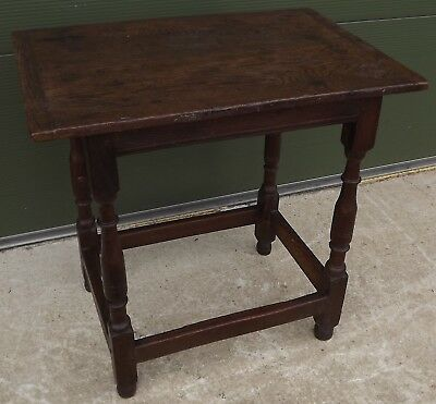 Antique Early C18th Solid Oak Joint Table - Lovely Early Country Piece