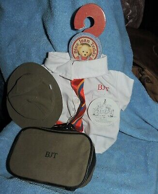 doll or bear hat bag shirt tie  unused great lot older