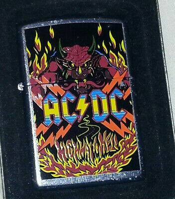 AC/DC highway to hell zippo lighter never used with unbroken seal very rare