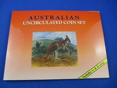 AUSTRALIAN UNCIRCULATED COIN SET - SHERWOOD - INCLUDES 1c &2c - Mixed Dates