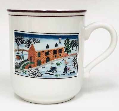 Villeroy & Boch NAIF CHRISTMAS Fireplace Design Luxembourg Coffee Mug Cup NEW