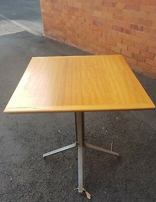 Cafe Restaurant Tables X Four Timber Top Metal Legs Excellent Condition Brisbane