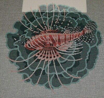LionFish Tropical Marine Fish Dramatic Flame Colour Exotic Tapestry Canvas 50cms