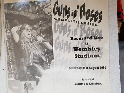"Guns N' Roses,Live At Wembley, ""Use Your Illusion"" Tour, 1991. Mega Rare Radio P"