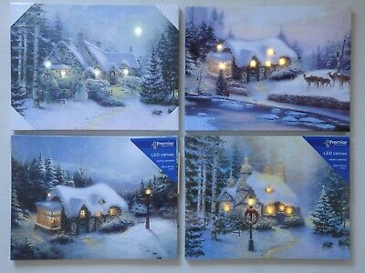 LED Christmas Light-up Canvas Picture (Choice of 2)