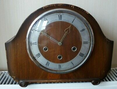 Alexander Clark Chiming Clock for Mantle - Inc Key.  Worn at back on edges