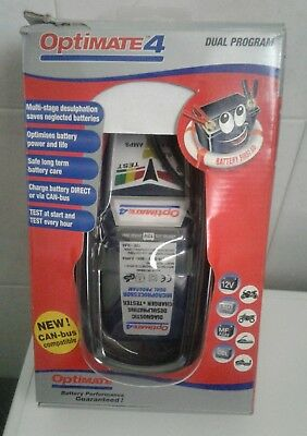 Carica Batteria Moto Optimate 4, Dual Program