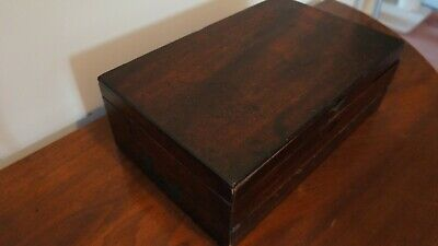 Georgian antique writing box/slope mahogany with campaign handles