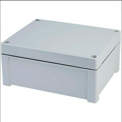 Grey ABS box and grey cover, Fibox tempo series 240 x 191 x 107