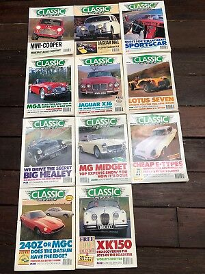 1991 CLASSIC AND SPORTS CAR MAGAZINES x 11