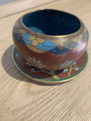 Cloisonne Bowl And Saucer