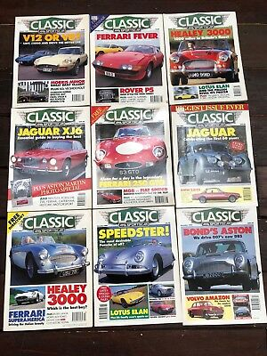 1995 CLASSIC AND SPORTS CAR MAGAZINES x 9