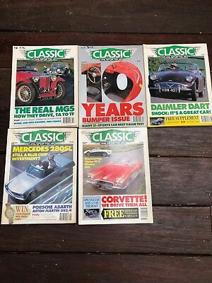 1992 CLASSIC AND SPORTS CAR MAGAZINES x 5