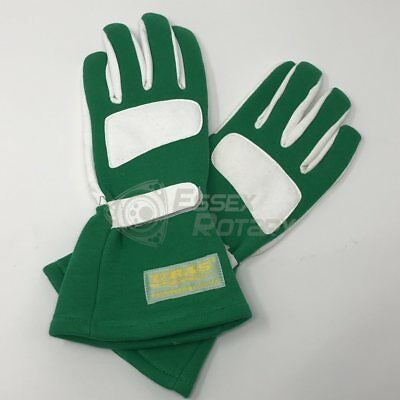 "URAS Racing Gloves Genuine ""JDM Free Size"" UK Stock NEW GREEN Drifting Nomura"