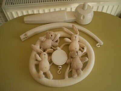 Mothercare I Love My Bear Musical Cot Mobile, excellent used condition