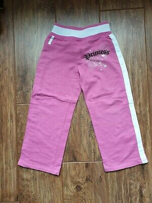 "Adams Pink/White ""Pop Princess"" Diamante Studded Trousers (6 Yrs) - VG Condition"