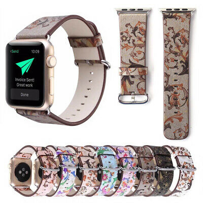 Colorful Leather For Apple Watch Strap Band series4 3 2 1 iWatch strap 40mm 44mm