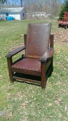 Antique Stickley era Tobey morris chair arts and crafts Early 1901!