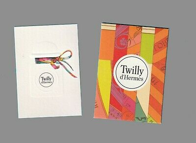 Carte publicitaire + enveloppe - advertising card  - Twilly  Hermès