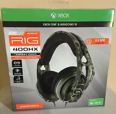 Plantronics RIG 400 HX Gaming Headset For Xbox One, Forest Camo 213012-62