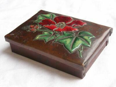 Antique Japanese box cloisonne enamel on copper Ando style 1900-12 #4405