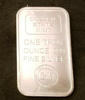 Golden State Mint One Troy Ounce .999 Fine Silver