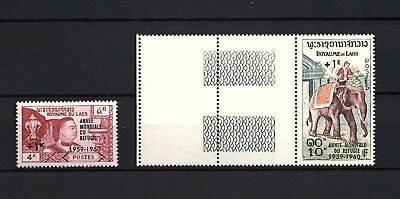 FRANCE COLONIES - ROYAUME DU LAOS - N°69 et 70
